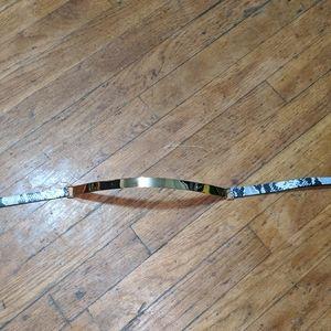 B-low the belt snake skin belt